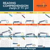 1st Grade Monthly Fluency Passages, Reading Comprehension