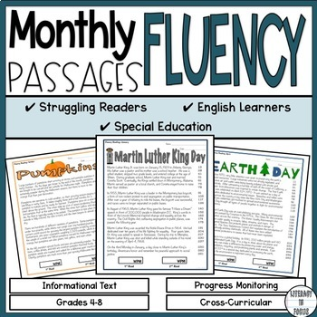 Monthly Fluency Passages - Informational Text - Excellent
