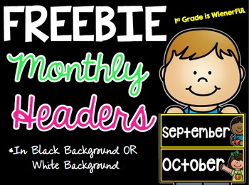Monthly Headers FREEBIE
