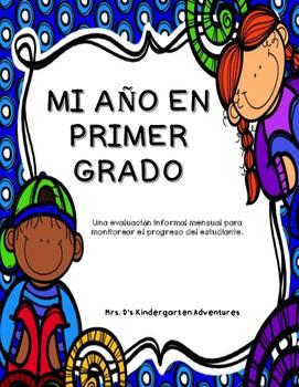 Monthly Informal Assessment - 1st Grade - Spanish Version