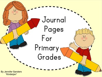 Monthly Journal Pages for Primary Grades