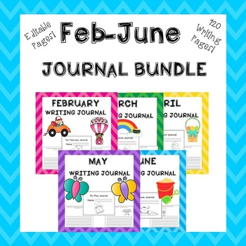 Writing Activities February, March, April, May, June Journals
