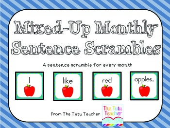 Monthly Mixed-Up Sentences