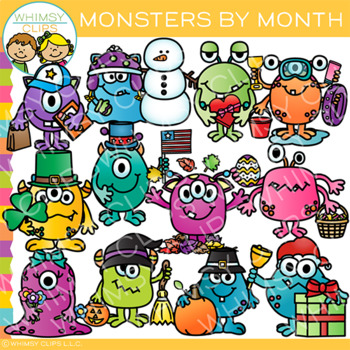 Monthly Monsters Clip Art