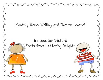 Monthly Name Writing and Self Portrait Journal