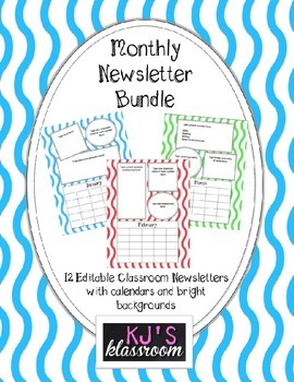 Monthly Newsletter Bundle - Editable