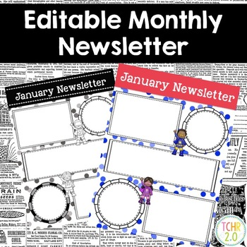 Superhero Monthly Newsletters Editable