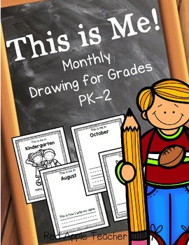 Monthly Picture Draw & Write for PK-2 {Me Throughout the S