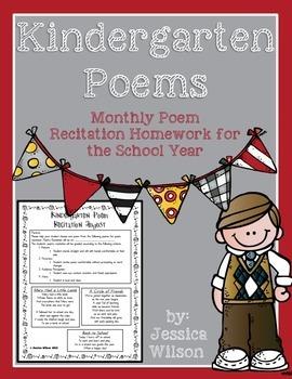 Monthly Poem Recitation for Kindergarten