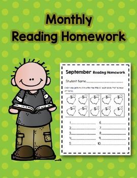 Monthly Reading Homework