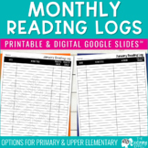 Monthly Reading Logs for Young Readers {Grades K-2}
