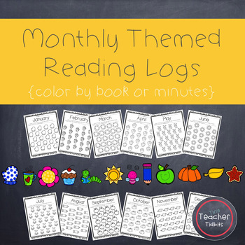Monthly Reading Logs {Themed}