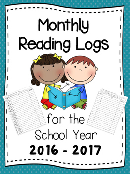 Monthly Reading Logs for the School Year 2016-2017