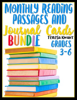 Monthly Reading Passages for the Entire Year (Bundle) 3rd, 4th, 5th, 6th Grades