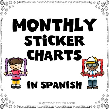 Monthly Sticker Charts for Easy Measurement of Speech Atte
