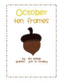 Monthly Ten Frames--October acorns