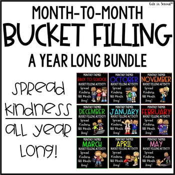 Monthly Themed Bucket Fillers- Back to School & BEYOND for