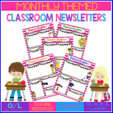 Monthly Themed Pink Classroom Newsletter