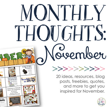 Monthly Thoughts: November