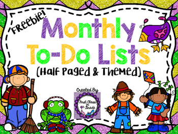 Monthly To-Do Lists (Free)