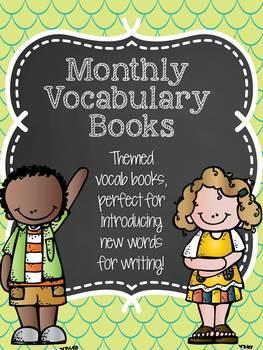 Monthly Vocabulary Books - Kindergarten writing skills for