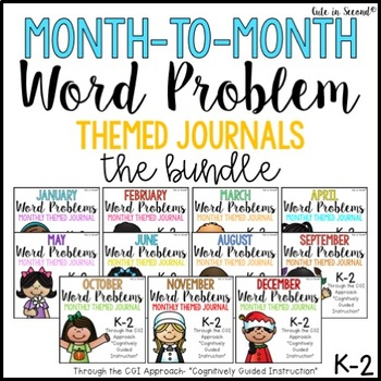 Monthly Word Problem Journal Booklets Bundle