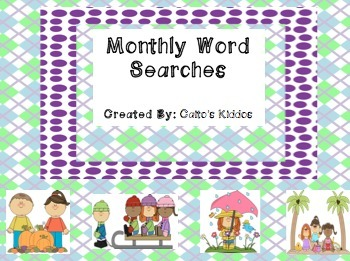 Monthly Word Search Fun!