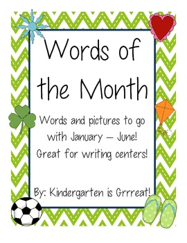 Monthy Words - January - June