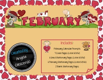 Monthly Writing Calendar - February