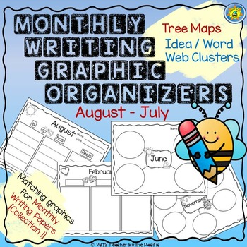 Monthly Writing Graphic Organizers {Collection 1} – Tree M
