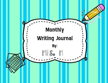 Monthly Writing Journal (August)