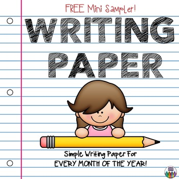 Monthly Writing Paper - Primary - Simple Seasonal Themes -