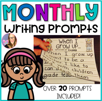 Monthly Writing Prompt Booklets