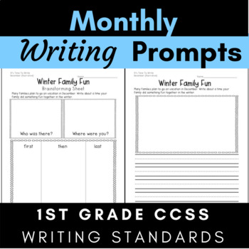 Monthly Writing For Entire Year {Writing Process-Brainstor