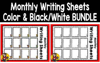 Monthly Writing Sheets BUNDLE