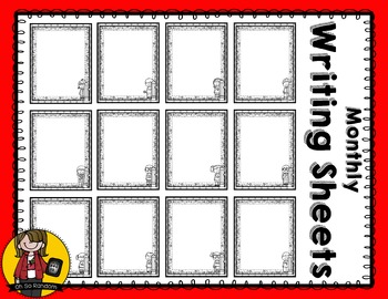 Monthly Writing Sheets | BW