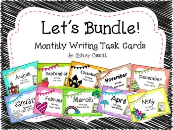 Monthly Writing Task Card Bundle