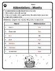 Months Abbreviations Worksheet Abbreviations Months of the