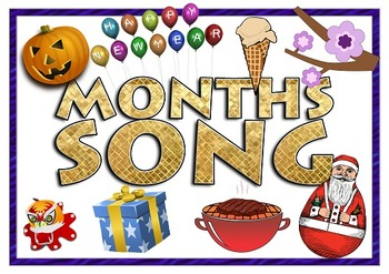 Months Song - American Holidays includes Mp3 Flashcards Se