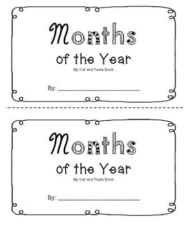 Months of the Year Booklet