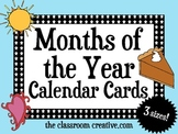 Months of the Year Calendar Cards (3 sizes)
