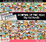 Months of the Year Clip Art GROWING Bundle