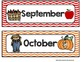 Months of the Year - Colorful Chevron