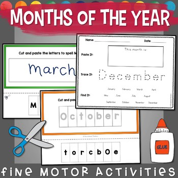 Months of the Year: Cut, Paste, Trace, & Write!