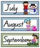 QLD Beginners Font Months of the Year Flashcards with Aust