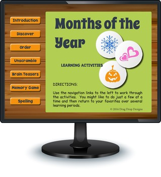 Smartboard Months of the Year Activities and Games - Austr