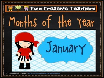 Months of the Year Pirate Theme 2