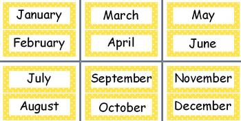 Months of the Year Polka Dot Theme in 11 Different Colors