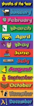 Months of the Year Poster - High Quality Graphics - Prints