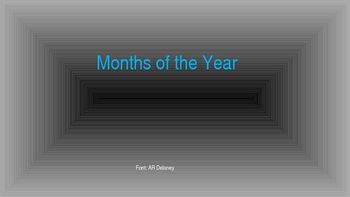 Months of the Year bulletin board
